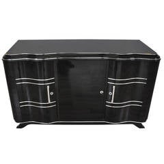 Elegant Art Deco Sideboard with Serpentine Doors