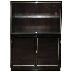 Black Art Deco Showcase Cabinet