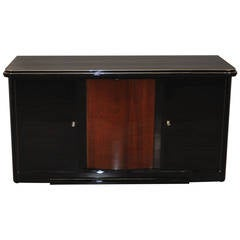 Luxury Art Deco Sideboard - Cherry Wood and Piano Lacquer