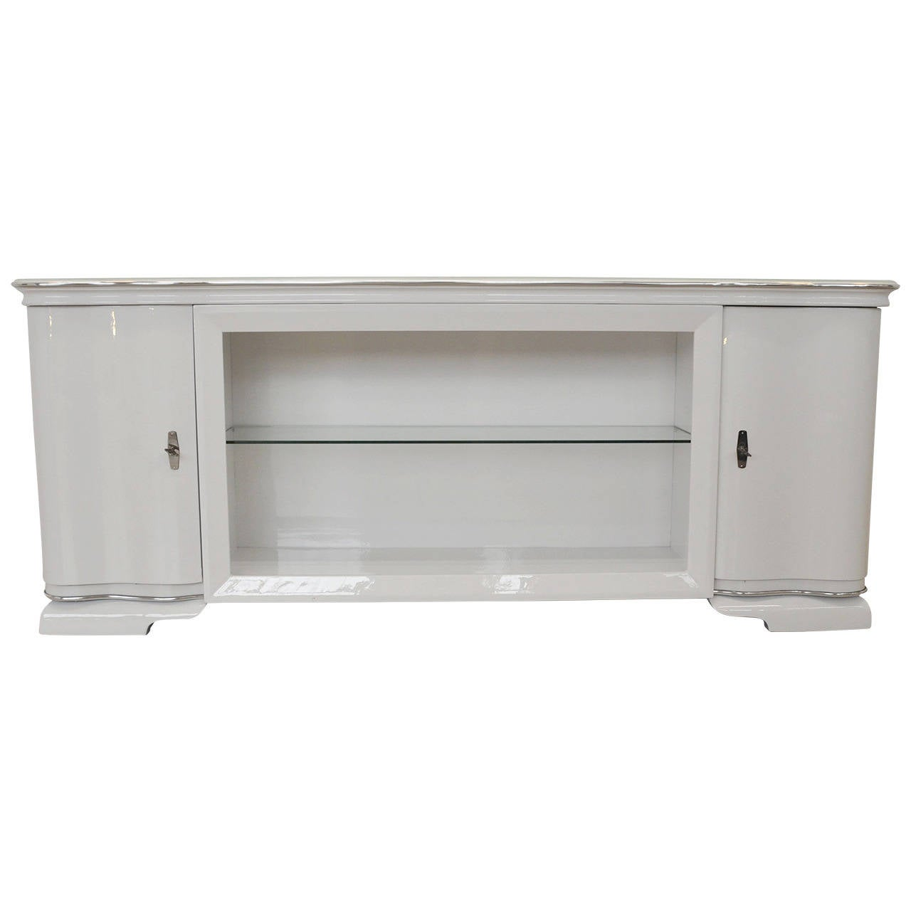 White glossy lowboard for sale at 1stdibs for Sideboard lowboard