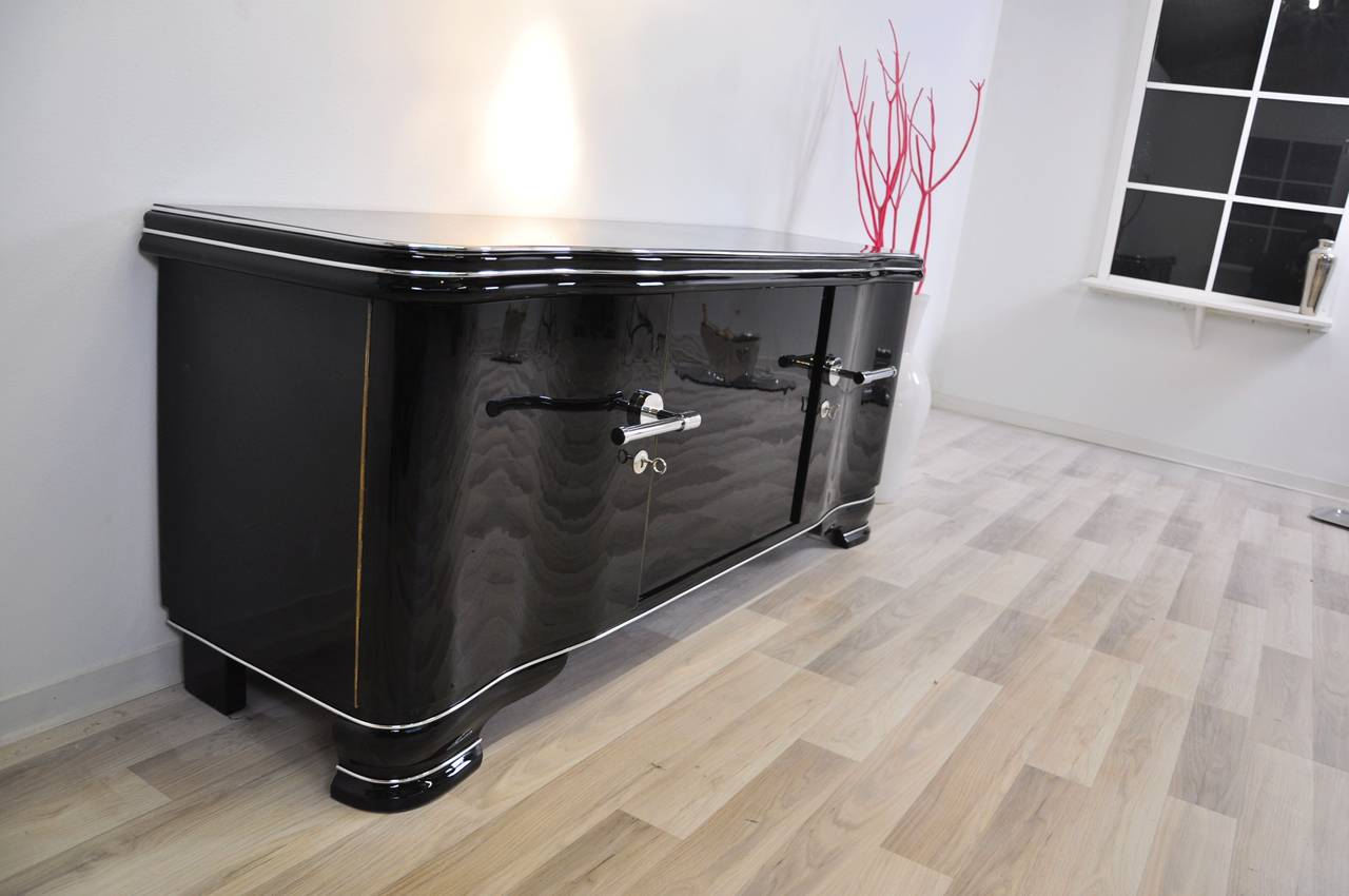 Elegant Piano Lacquer Lowboard At 1stdibs