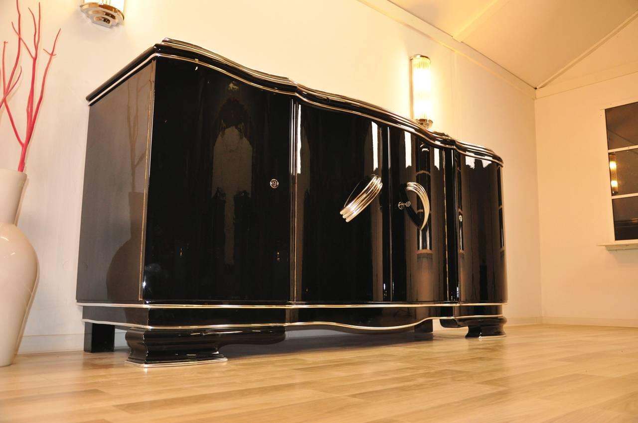 xxl art deco sideboard belgium for sale at 1stdibs. Black Bedroom Furniture Sets. Home Design Ideas