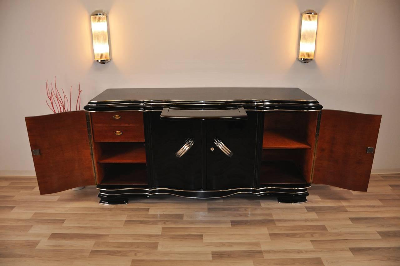 xxl art deco sideboard belgium at 1stdibs. Black Bedroom Furniture Sets. Home Design Ideas