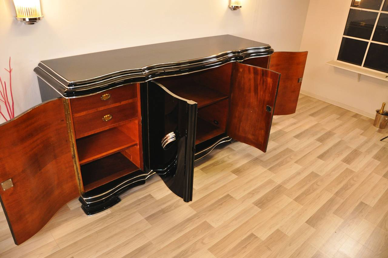 xxl art deco sideboard belgium for sale at 1stdibs. Black Bedroom Furniture Sets. Home Design Ideas