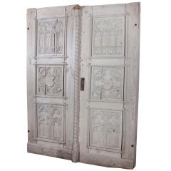Pair of 18th Century Gothic Doors from Germany