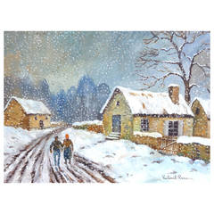 """""""Winter Road"""" Painting by PauléMile Pissarro"""