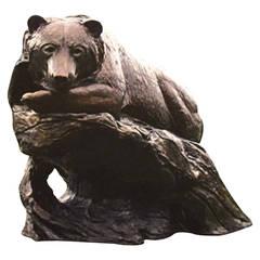 """Waiting for Sockeye"" Monumental Bronze Sculpture by Kent Ullberg"