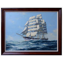 """Clipper Ship Under Full Sail"" Painting by John Bentham-Dinsdale"