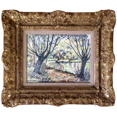 """Path Along the River"" Painting by Paul-Émile Pissarro"