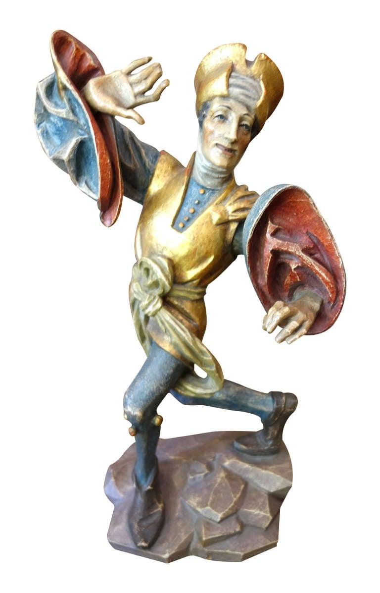 Set of moriska dancers german carving from bavaria for