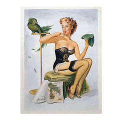 """""""Pin Up"""" Illustration Very Well Executed After Gil Elvgren"""