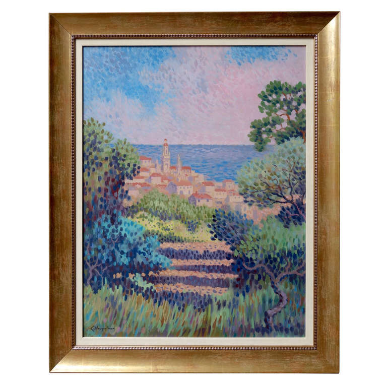 """""""A View in Provence"""" by Lucien Neuquelman at 1stdibs"""