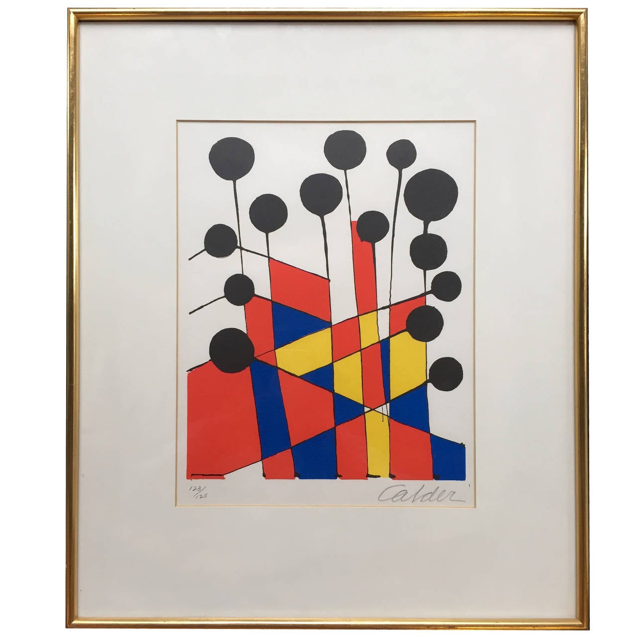 """Balloons"" Color Lithograph by Alexander Calder at 1stdibs"