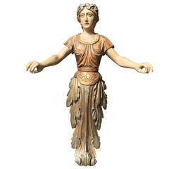 Carved Figure from Circus or Carnival in Europe