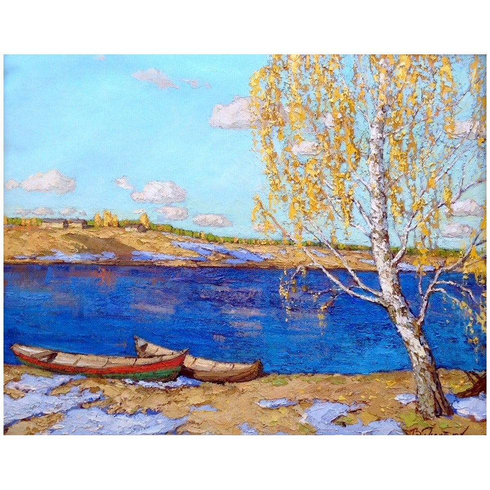 Silence Russian Oil Painting