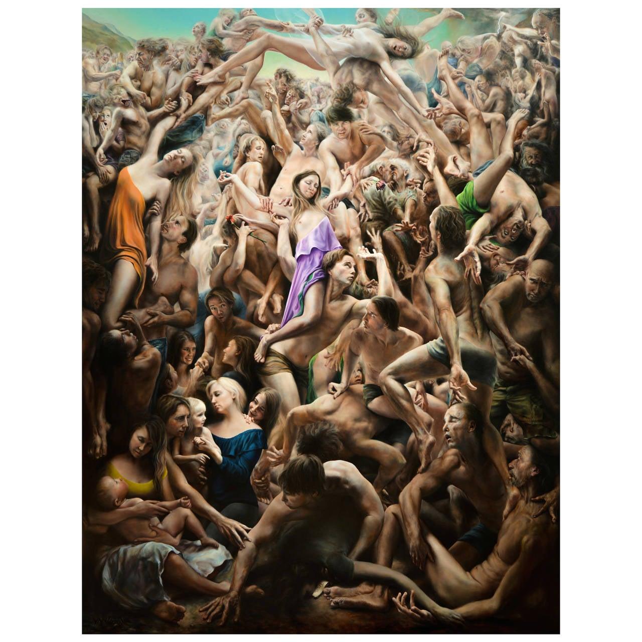"Masterwork ""Drama Magnifico"" Painting by James Van Fossan"