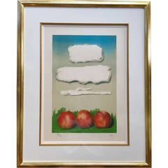 """""""Apples"""" Color Lithograph Hand Signed Man Ray"""