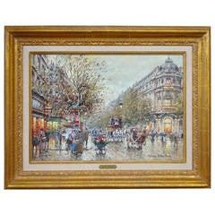 """""""Theatre Du Vaudviille"""" by Antoine Blanchard Paris"""