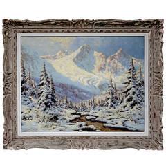 """Fresh Snow"" Painting by Laszlo Neogrady"