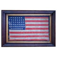 44 Star American Parade Flag Framed