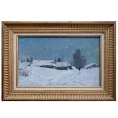 """Winter Twilight"" Painting by Russian Artist Nikolai Timkov"