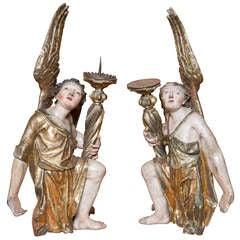 Pair of Baroque Angels 18th Century