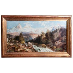 Landscape Painting of Ouray, CO circa 1915