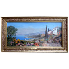 """""""A View of Capri"""" Painting by Alois Arnegger"""