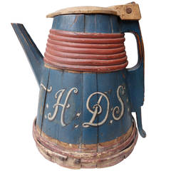18th Century Ale Tankard from Norway Paint Decorated