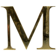"""Solid Brass Letter """"M"""""""