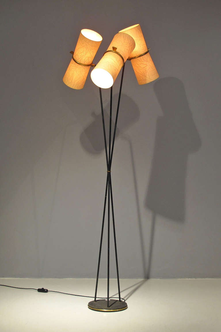 Rare 1950´s French Mid-Century Sculptural Floor Lamp at 1stdibs