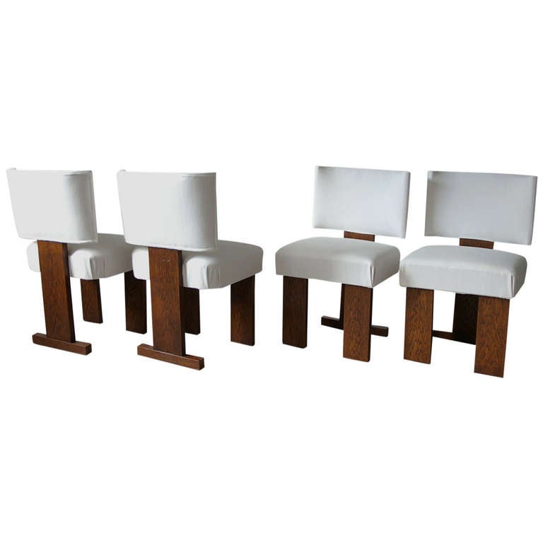 set of four bauhaus art deco dining room chairs at 1stdibs
