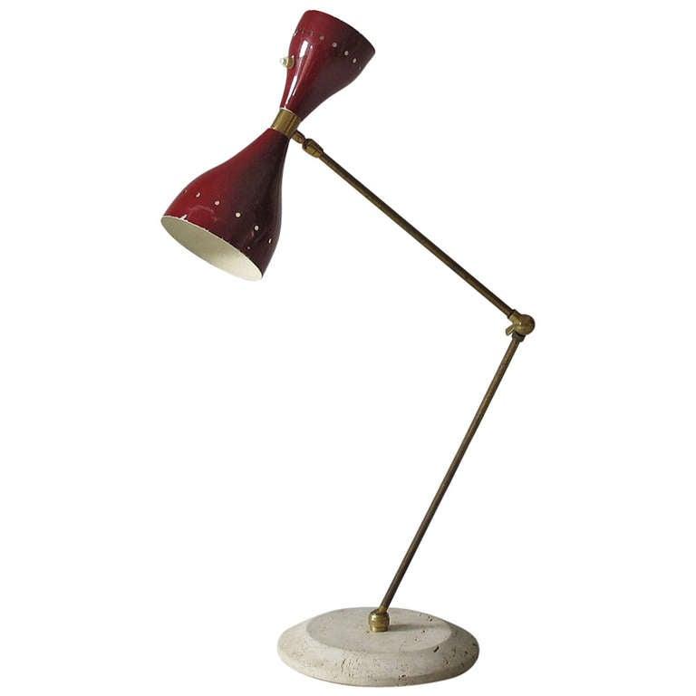 mid century modern italian 1950s sculptural desk lamp at 1stdibs. Black Bedroom Furniture Sets. Home Design Ideas