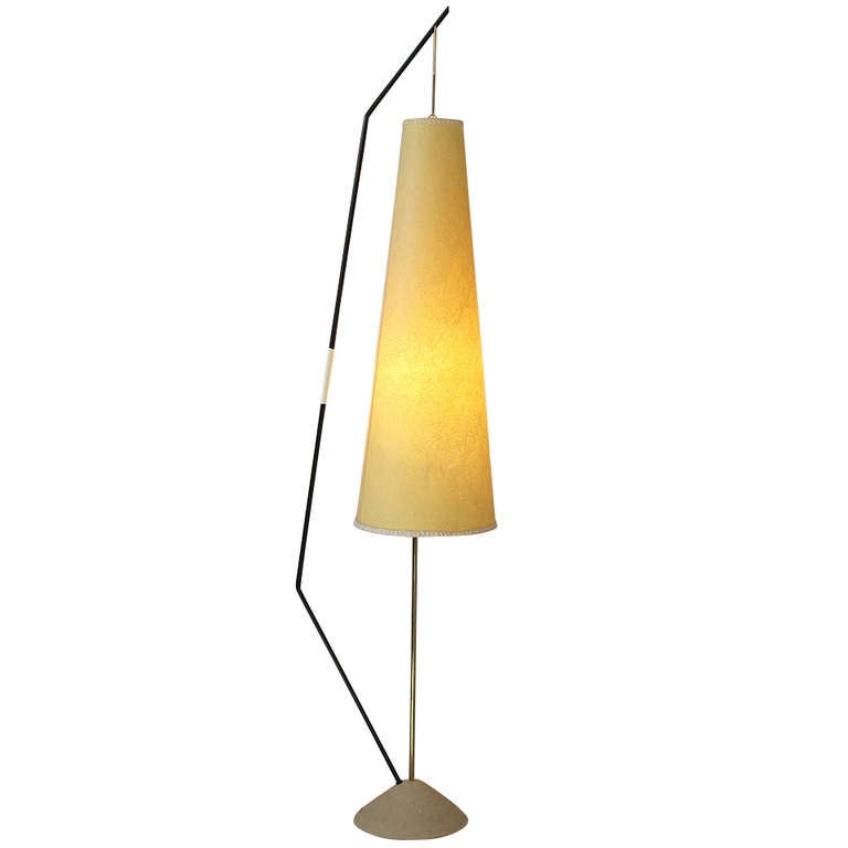 sculptural mid century modern 1950s floor lamp at 1stdibs. Black Bedroom Furniture Sets. Home Design Ideas