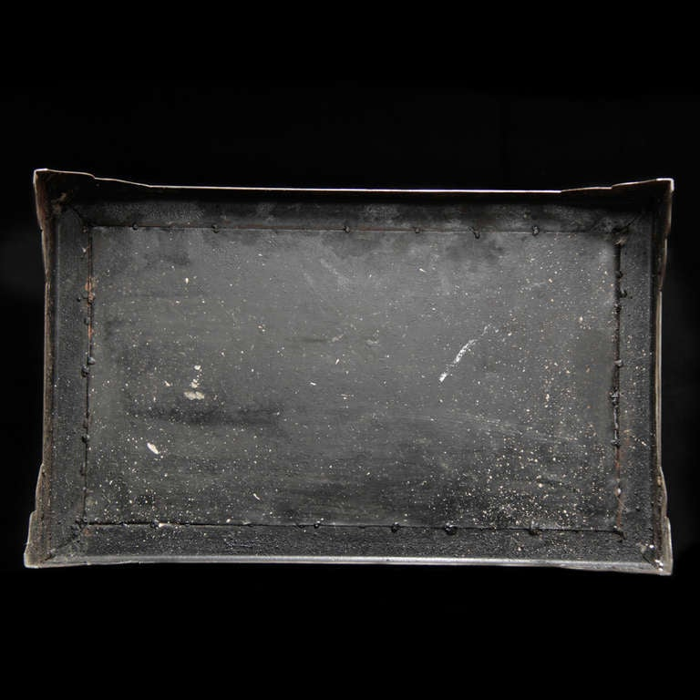 Wonderful 19th Century Iron Suitcase with Silver Marquetry 7