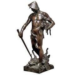 19th Century Bronze Statue `Le Justicier`