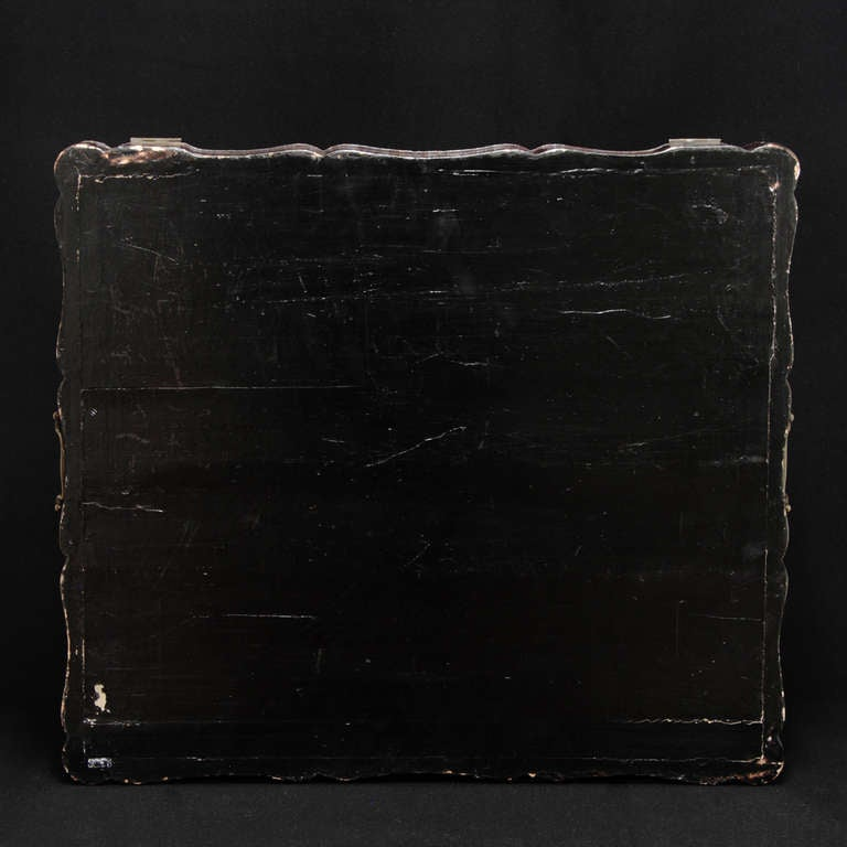 19th Century English Documents Case, chinese laque For Sale 1