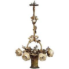 Bronze Plaited Hanging Basketlamp