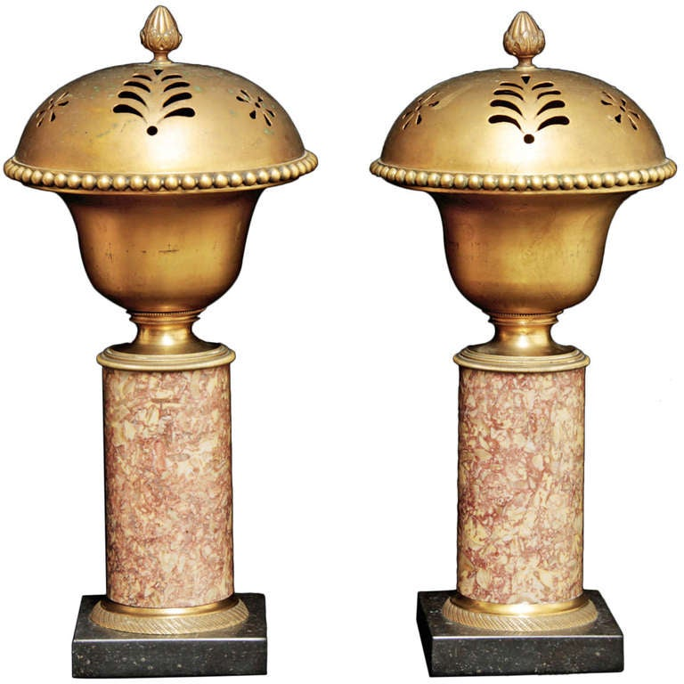 A pair of French Empire Incense Burners/Scented Pots
