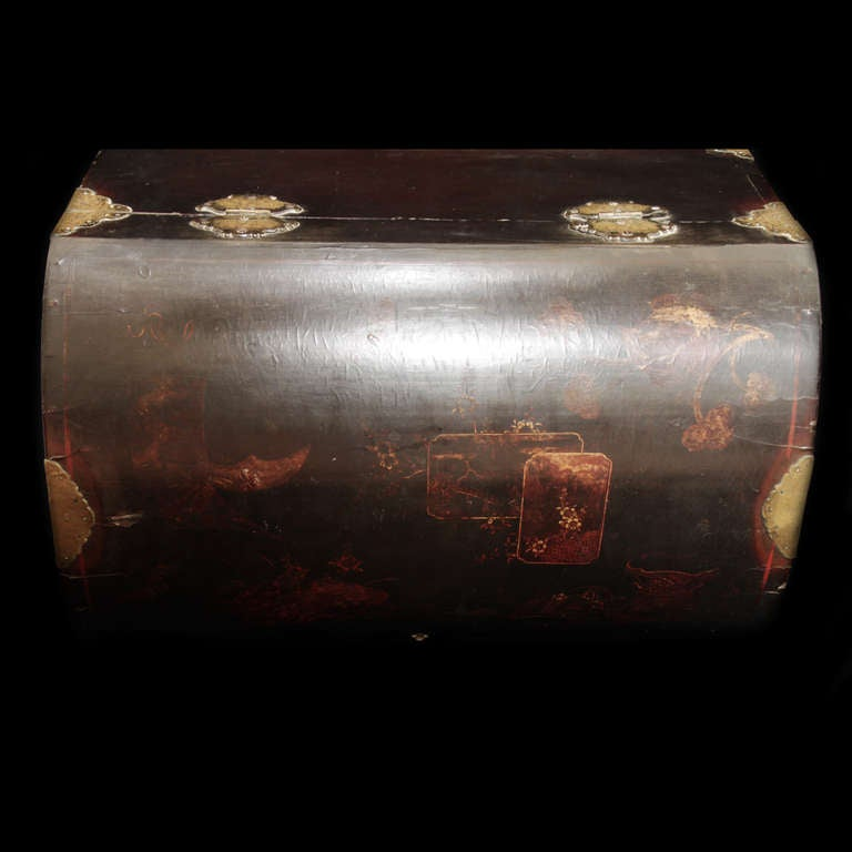 18th c  English Trunk, chinese laque 9