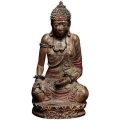 Wonderful 19th C. Balinese Wooden Buddha