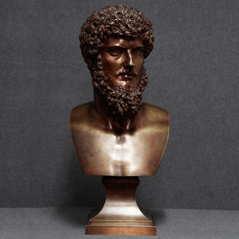 1st part 19th c. Portraying an image of the Greek ancient history Brown patinated Excellent condition, very high quality
