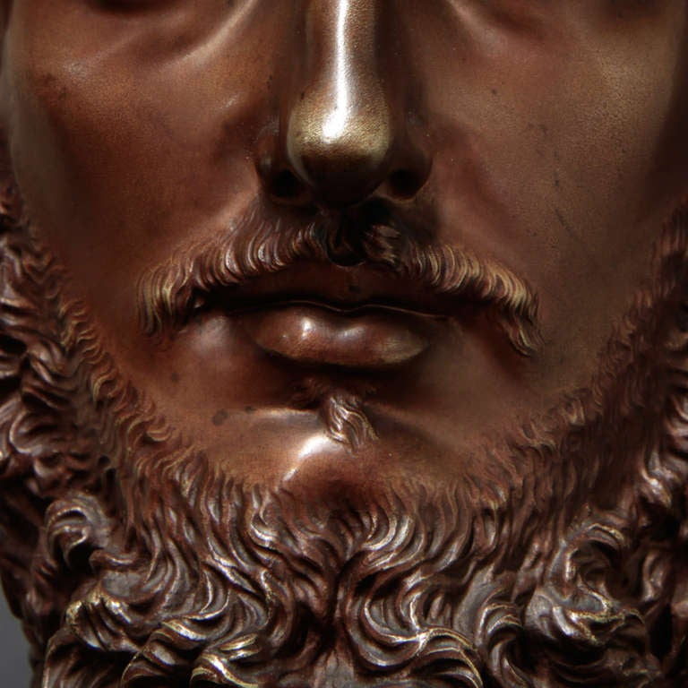 19th Century French Bronze Bust For Sale 5