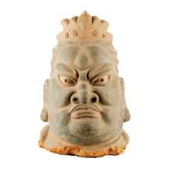 17th Century Chinese Expressive Head Made of Mud