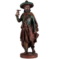 18th Century Iron Statue Depicting a Turkish Man