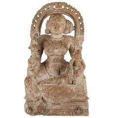 17th Century Wooden Buddha, India