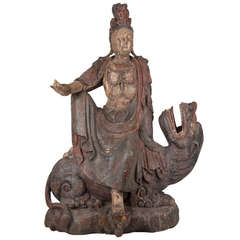 18th Century Wooden Seated Buddha,China