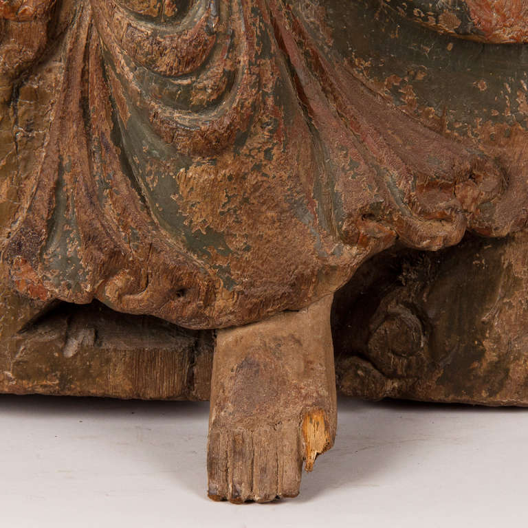 18th Century Wooden Seated Buddha, China For Sale 2