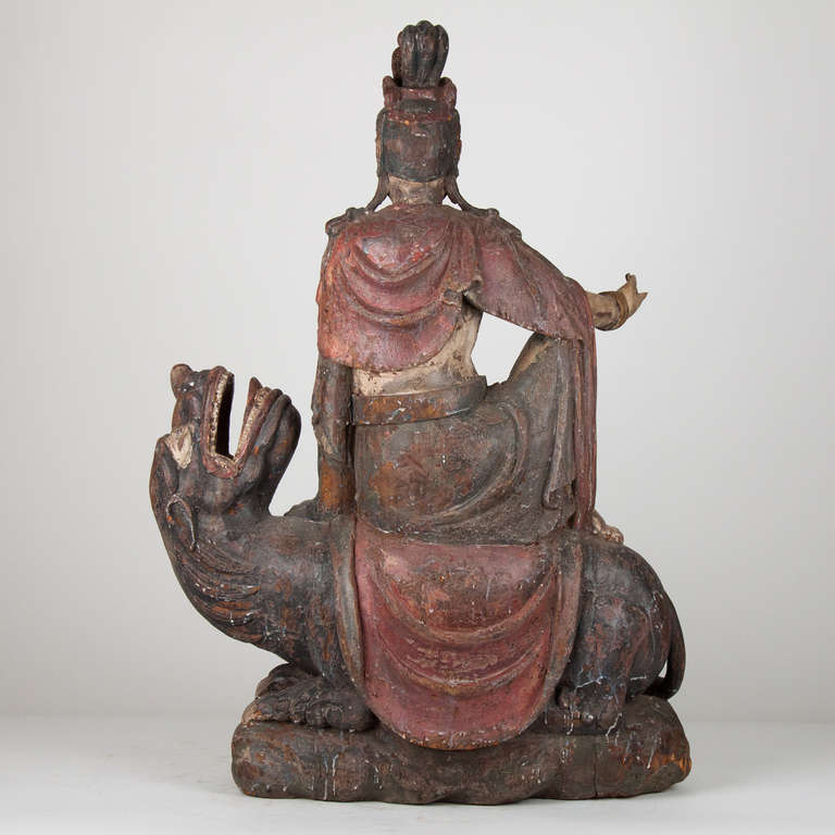 Chinese 18th Century Wooden Seated Buddha,China For Sale