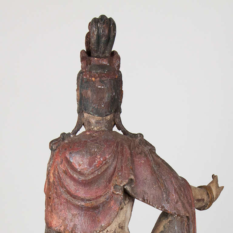 18th Century Wooden Seated Buddha,China For Sale 3